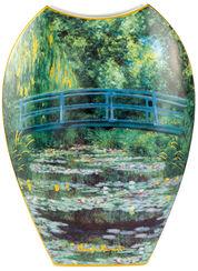 """Porzellanvase """"Japanischer Garten"""" mit Golddekor"""
