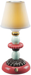 "Kabellose LED-Tischleuchte ""Lotos"", Porzellan handbemalt"