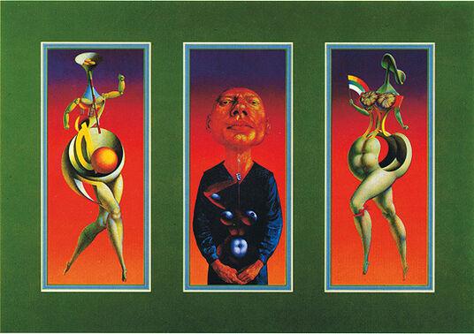 """Rudolf Hausner: 3 Bilder """"Adam Triptychon"""", ungerahmt"""