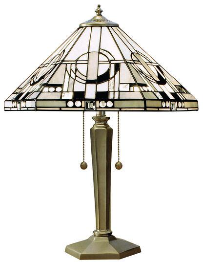 "Frank Lloyd Wright: Art Nouveau-Tischleuchte ""Metropolitan"""