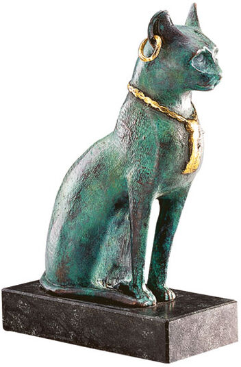 Bastet Cat with necklace