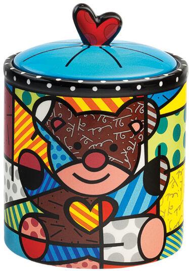 "Romero Britto: Deckeldose ""Teddy"", Keramik"