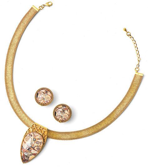 "Petra Waszak: Jewelry set ""Tree of Life"" - after Gustav Klimt"