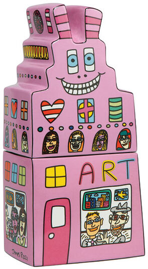 """James Rizzi: Porcelain box """"Art in the City"""""""