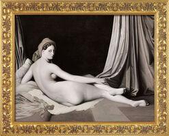 """Bild """"Odaliske in Grisaille"""" (1824-34), gerahmt"""