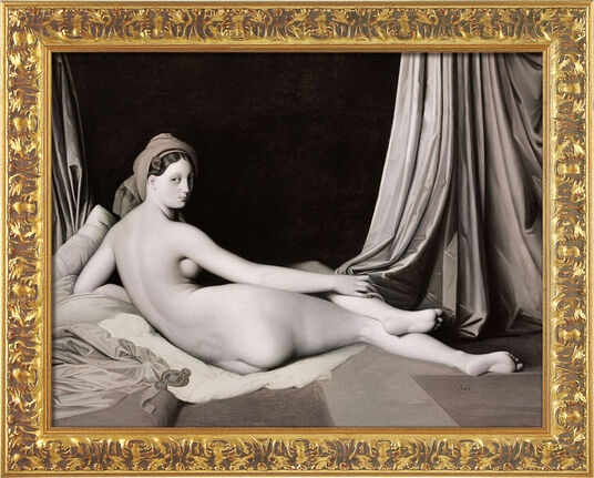 Jean Auguste Dominique Ingres: Painting 'Odalisque in Grisaille', 1824-34