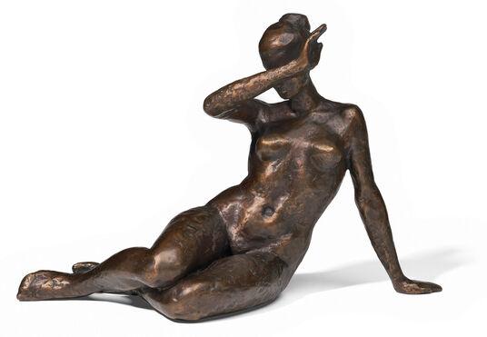"""Olaf Teichmann: Sculpture """"Cassandra"""", bronze"""