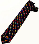 "Silk tie ""Roundabout Traffic"", black version"