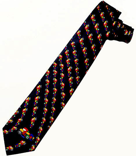 "Otmar Alt: Silk tie ""Roundabout Traffic"", black version"