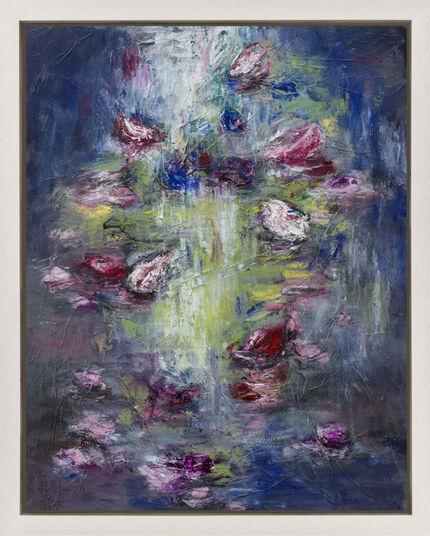 """Dagmar Vogt: Bild """"Blüten am Fluss V"""" (2016) (Unikat)"""