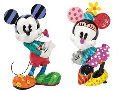"Sculpture Set ""Mickey & Minnie in Love"", Artificial Casting"