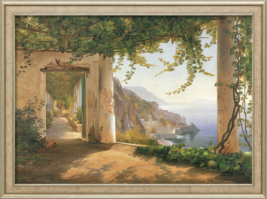 "Carl Frederic Aagaard: Bild ""View to the Amalfi Coast"", gerahmt"