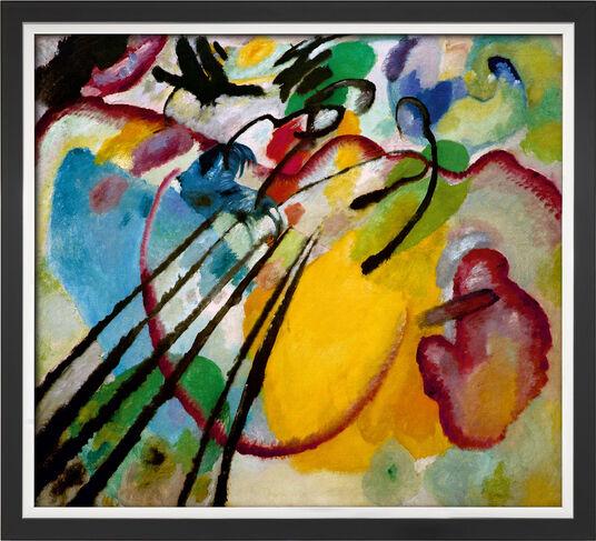 "Wassily Kandinsky: Bild ""Improvisation 26 (Rudern)"" (1912), gerahmt"