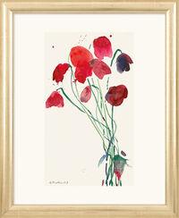 "Bild ""Junge Mohnblüten"", gerahmt"