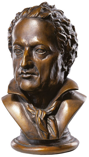 Goethe-bust, edition in Bronze art