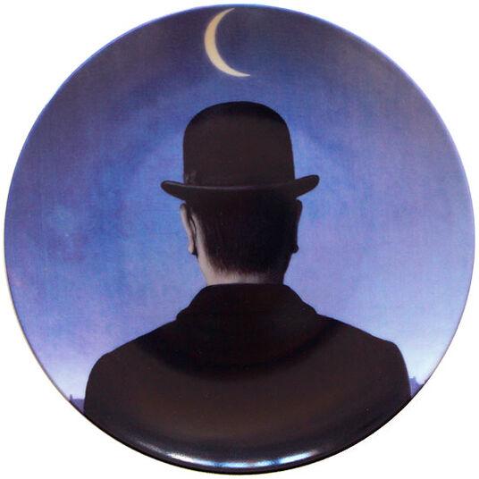"""René Magritte: Porzellanteller """"Le Maître d'Ecole"""""""