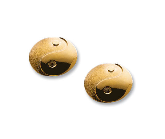 "Ear studs ""Yin and Yang"", gold-plated 925 sterling silver"