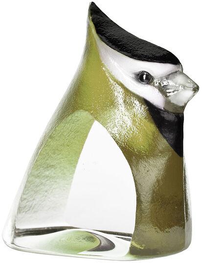 "Mats Jonasson: Glasobjekt ""Birdie"", grüne Version"