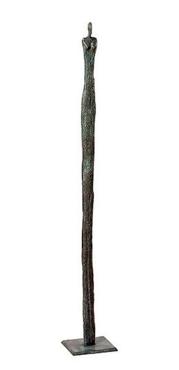 """Rosa Gillissen: Sculpture """"Column Man"""" (medium size, height 79 cm), bronze"""
