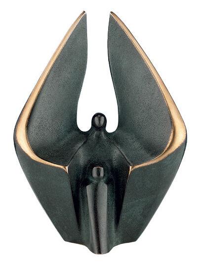 Luise Kött-Gärtner: Sculpture 'Guardian Angel with Child', bronze