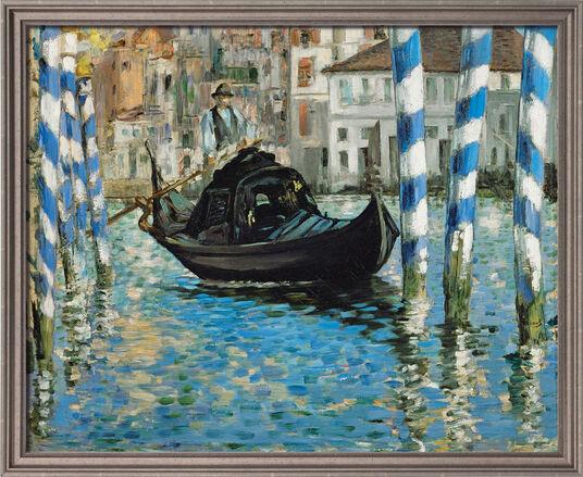 "Edouard Manet: Bild ""Canal Grande in Venedig"" (1874), gerahmt"