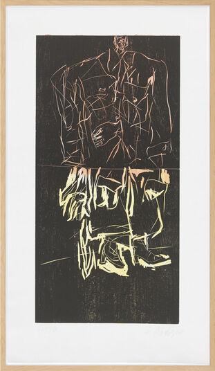 "Georg Baselitz: Bild ""Maler im Mantel"" (2008)"