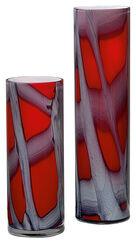 """Set of 2 glass vases """"Vermelho"""""""