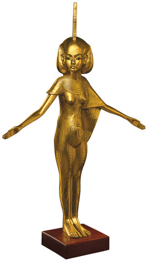 Sculpture 'Patron Goddess Isis' (original size), gold-plated