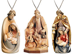 "3-piece Set Christmas Pendants ""The Holy Family"""