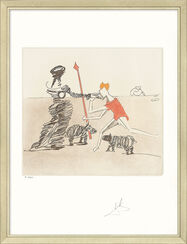 "Bild ""Don Quijote (K) - Pastorale"" (1980), gerahmt"