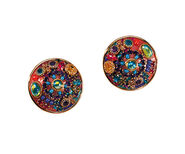 "Clip-on Earrings ""Multi Crystal"""