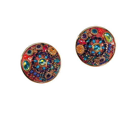"Michal Golan: Clip-on Earrings ""Multi Crystal"""