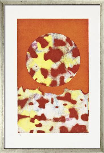 """Max Ernst: Bild """"Landschaft"""" (1971), gerahmt"""