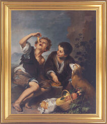 """painting """"The pie eaters"""" (approx. 1675)"""
