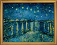 "Painting ""Starry Night over Rhône"" (1888) in a frame"