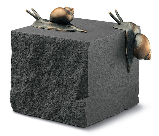 """The Snail piece"" bronze, sand stone"