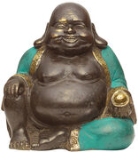 "Skulptur ""Happy Buddha"", Bronze"