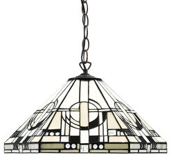 "Frank Lloyd Wright: Art Nouveau-Pendant Lamp ""Metropolitan"""
