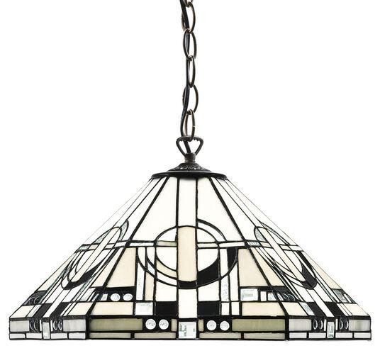 "Frank Lloyd Wright: Art Nouveau-Pendelleuchte ""Metropolitan"""
