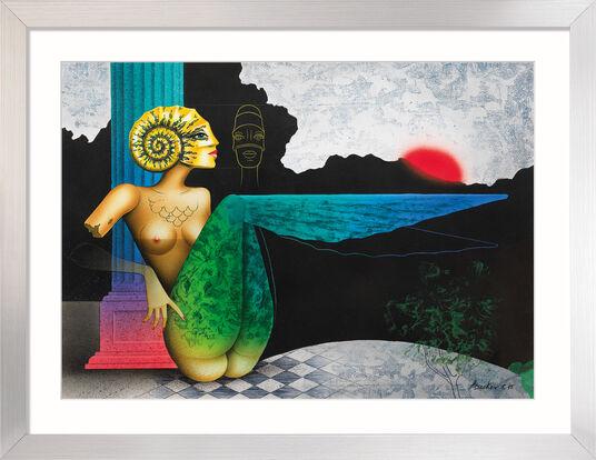 "Michael Becker: Bild ""Goldammonite"" (2015) (Original / Unikat), gerahmt"