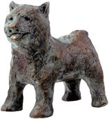"Sculpture ""dog"" (2013), bronze"