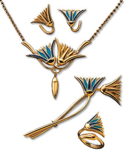 "Christiane Wendt: Jewellery set ""Lotus"""
