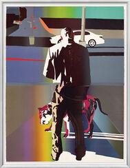 "Bild ""Man and dog, Harlem New York"" (2012)"