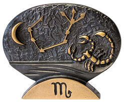 """Sternzeichen-Skulptur """"Skorpion"""" (24.10.-22.11.), Bronze"""
