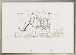 """Bild """"Maschinentier Der große Elefant"""" (2008), gerahmt"""