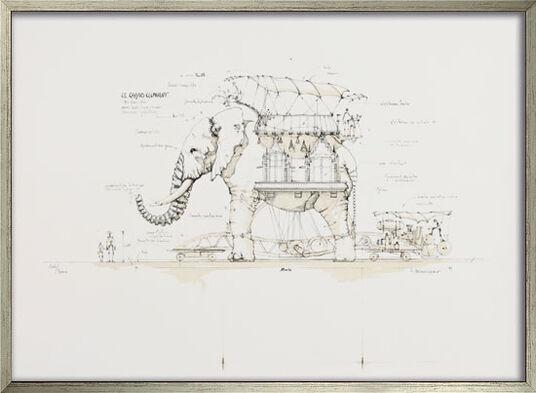 """François Delarozière: Bild """"Maschinentier Der große Elefant"""" (2008), gerahmt"""