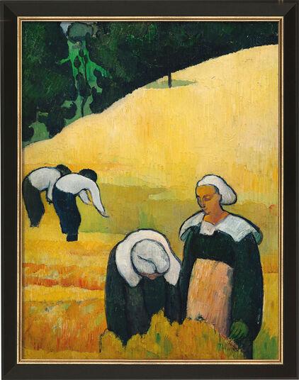 """Émile Bernard: Bild """"Die Ernte"""" (1888), gerahmt"""