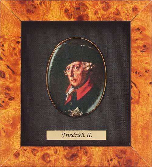 Miniature portrait of Friedrich II  of Prussia (1712-1786)