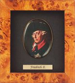 Miniature portrait of Friedrich II  of Prussia (1712-1786)