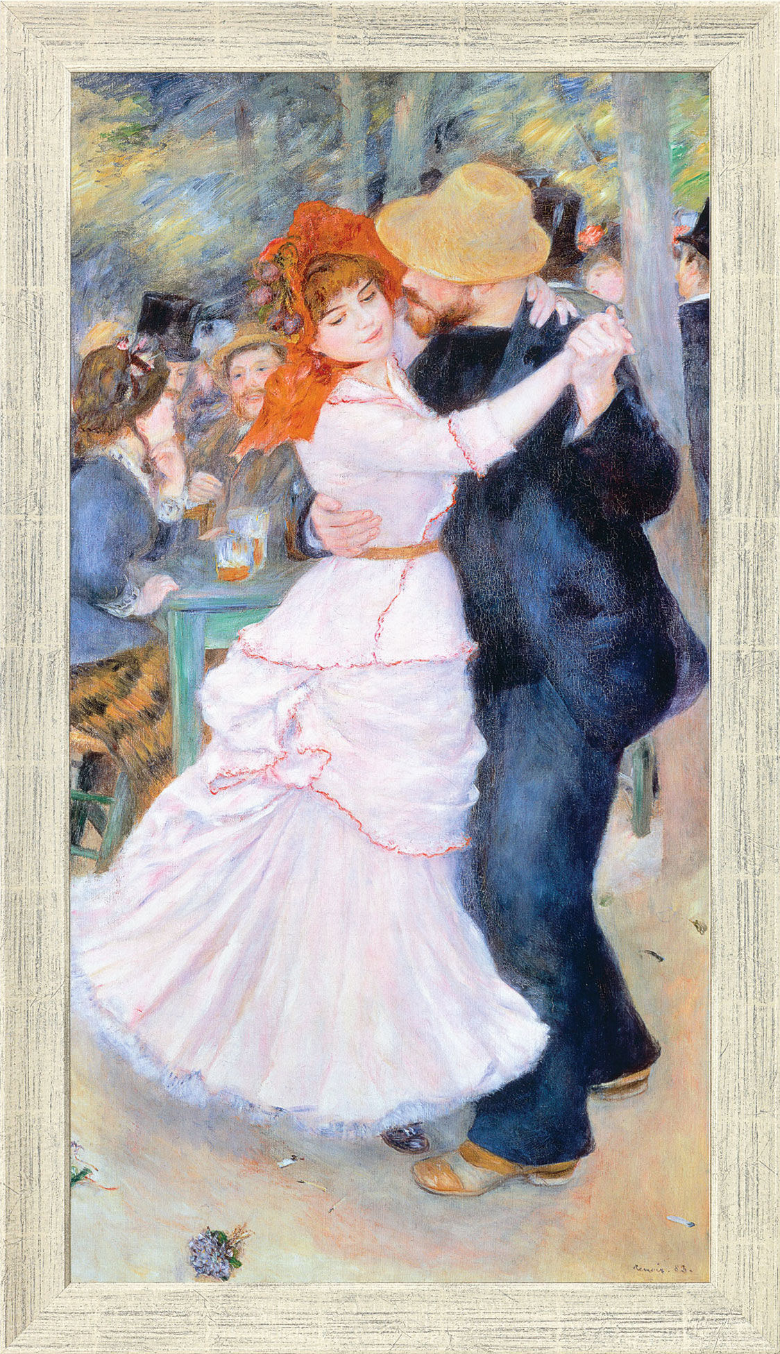 "Painting ""Dance in Bougival"" (1883) in a frame"